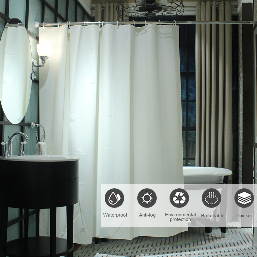 Our Shower Curtain Is Made With Non Toxic Chlorine Free EVA Which Doesnt Expose Your Family And The Environment To Harmful Chemical Fumes