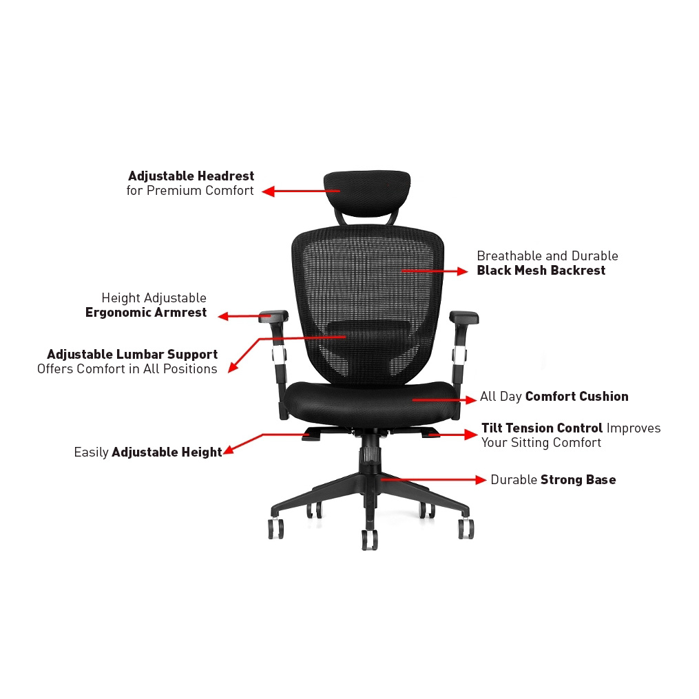 ergonomic executive mid back mesh office chair with adjustable height. this office chair is designed for commercial use, such as executive offices, conference and meeting rooms, general workstations ergonomic mid back mesh with adjustable height