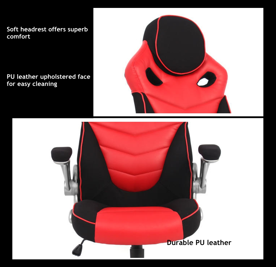 Racing Car Gaming Chair Computer Desk Red And Black