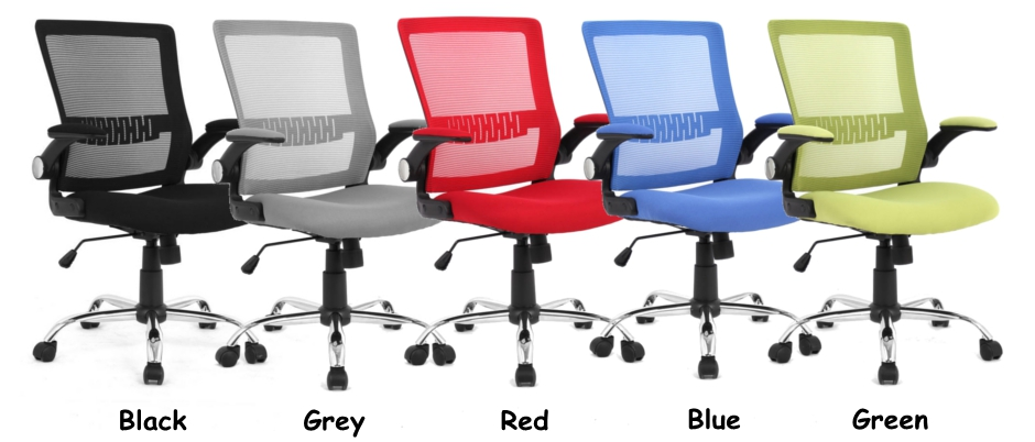 Mesh Office Chairs with Flip Up Arms