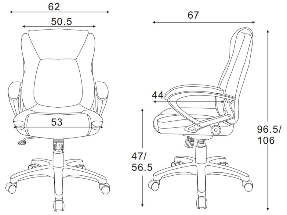 ergonomic faux leather mid back office chair with adjustable lumbar