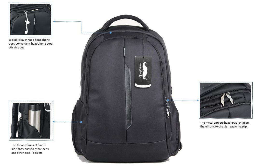 15.6'' Water-Proof Multi-Compartment Laptop Backpack