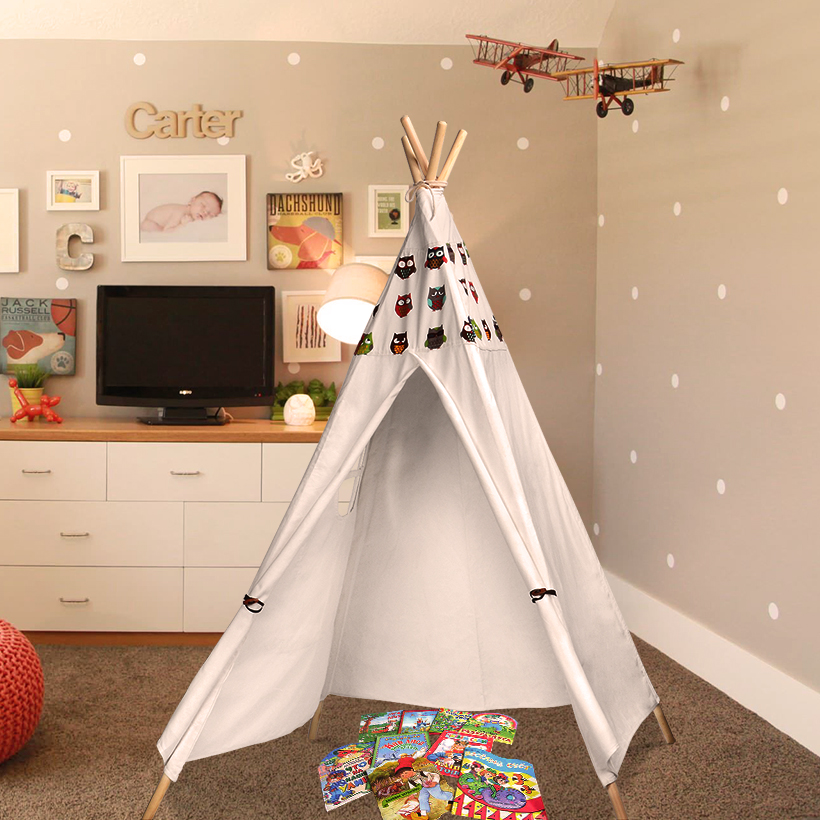 outlet store eda95 4e3d5 Details about Children's Teepee Tents Boys Girls Kids Premium Tipi Wigwam  Play house Playhouse
