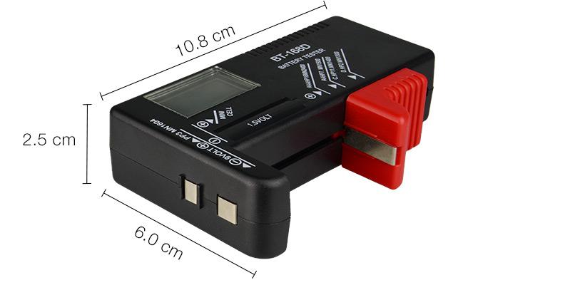 testeur de batterie num rique pour aa aaa c d 9v 1 5v pile bouton petites batteries. Black Bedroom Furniture Sets. Home Design Ideas