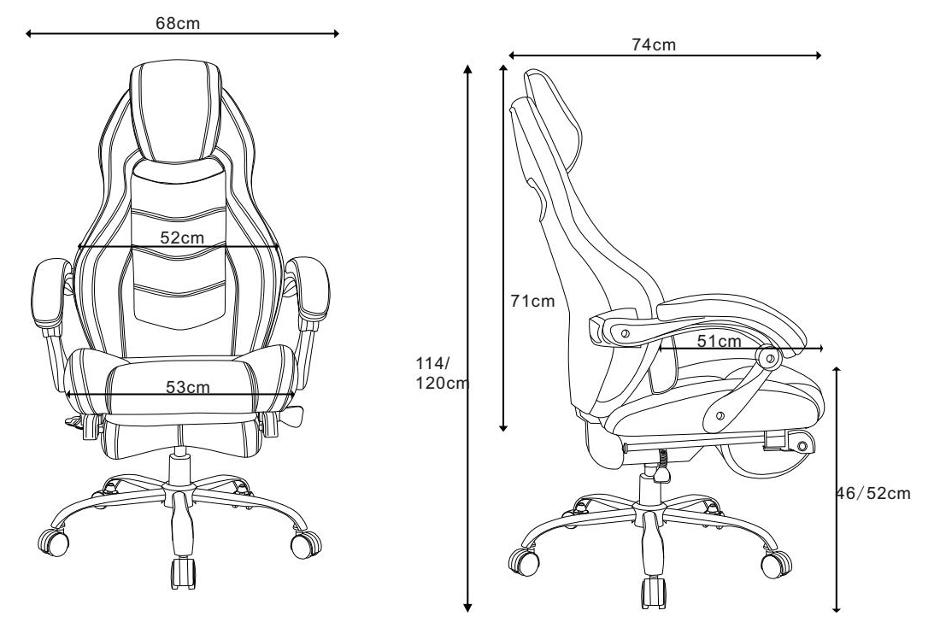 Chaise De Jeu Ergonomique Et D Ordinateur 224 Dossier Haut