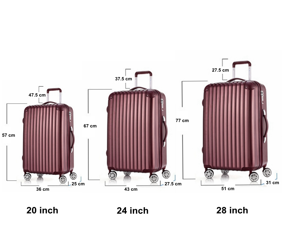 3-Piece Hardside Lightweight Spinner Luggage Sets with TSA Lock