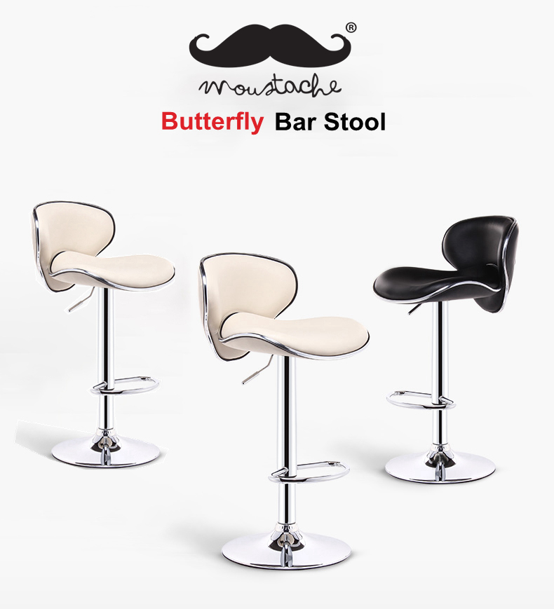 Bar Stool Adjustable Height Swivel Butterfly