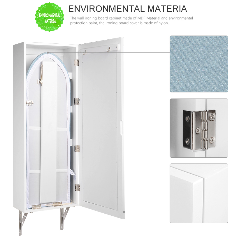 Incredible Details About Wall Mounted Ironing Board Cabinet With Dressing Mirror Hide Away Storage White Download Free Architecture Designs Scobabritishbridgeorg
