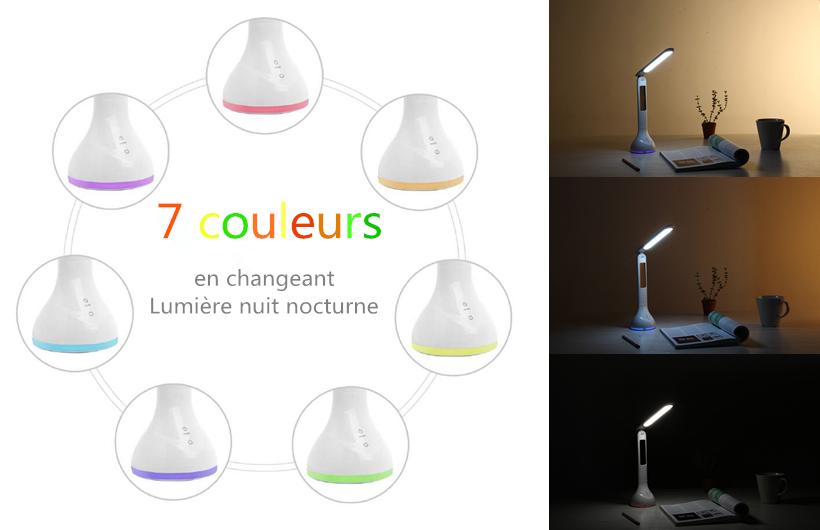 Lampe De Bureau Led Avec Heure : Lampe de bureau led avec thermomètre heure et date: test: lampe de