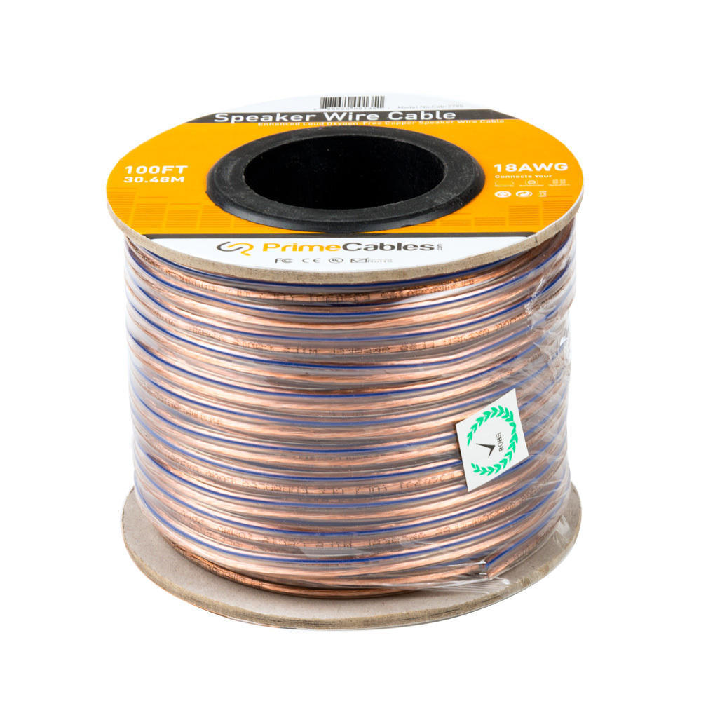 100ft speaker wire 18awg enhanced loud oxygenfree copper cable primecables at canada
