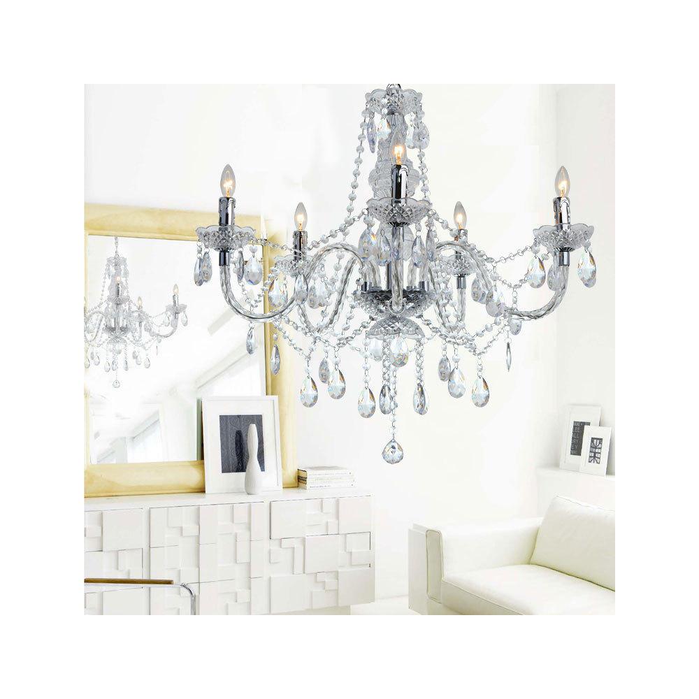Crystal Acrylic Chandelier 5 Lights At LightingBox Canada
