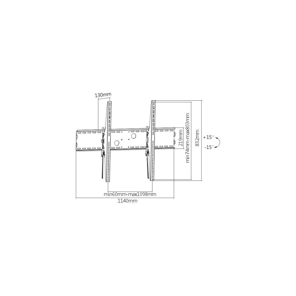 Primecables Heavy Duty Tilt Tv Wall Mount For 60 To 100 Flat Panel Curved Tvs X Large Wiring Diagram