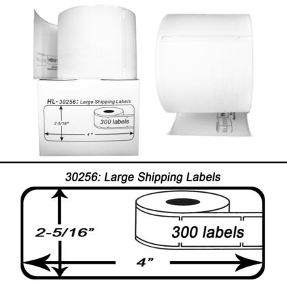 DYMO 30256 LabelWriter Large Shipping Labels 2516 x 4 Black – Large Mailing Labels