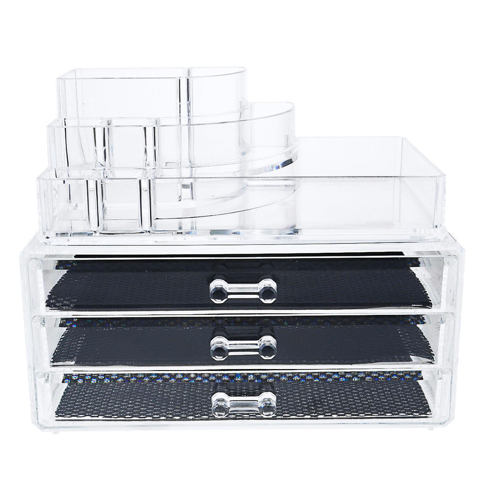 Clear Acrylic Drawer Makeup Organizer Cosmetic Organizer At - Clear acrylic makeup organizer