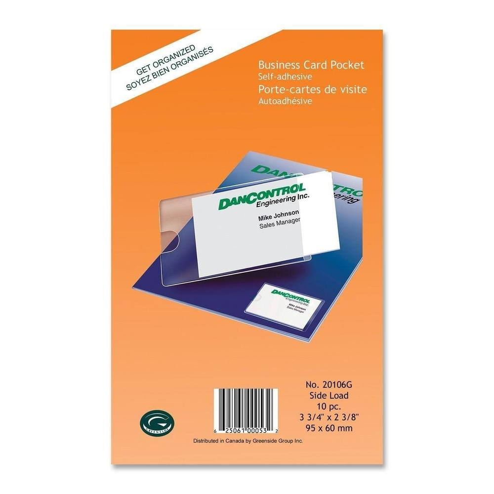 Greenside Group Self-Adhesive Business Card Pocket - 10 Card Pockets ...