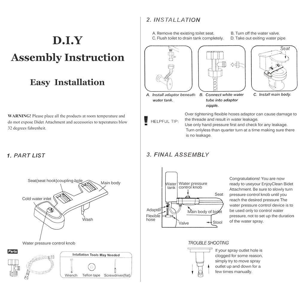 Bathroom accessories list - Amazetec Bidet Fresh Water Spray Non Electric Mechanical Bidet At Lightingbox Com Canada