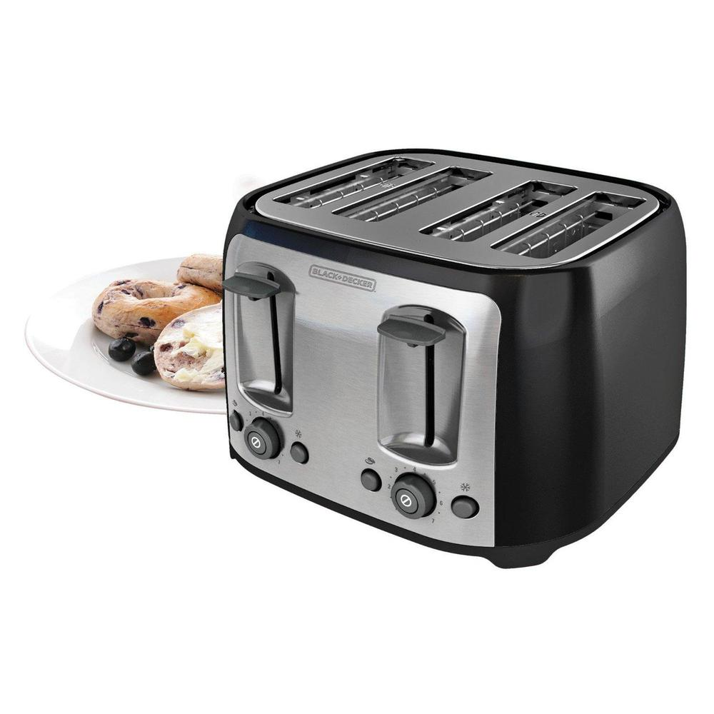 bagel is itm wide steel s black extra slice slot loading image professional stainless toaster