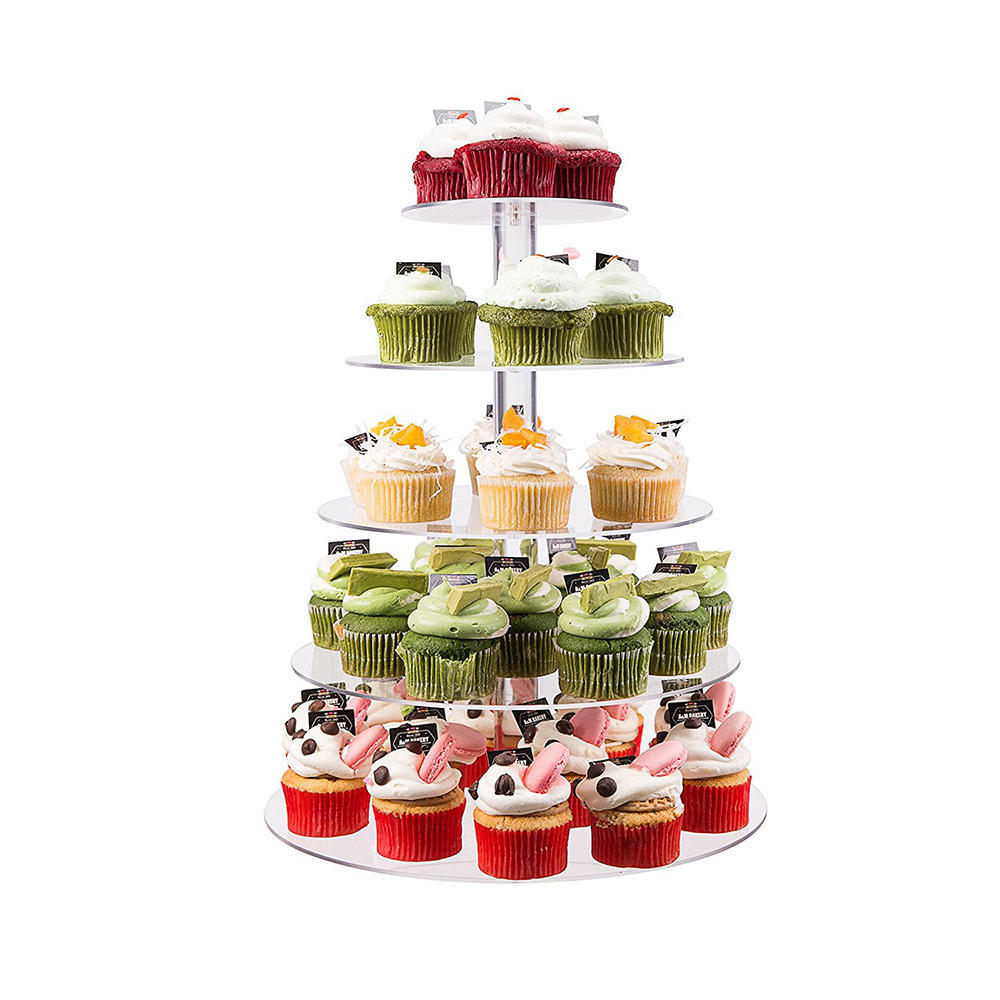 Acrylic Cake Stands Buffet Wedding Party Cupcake Carriers ...