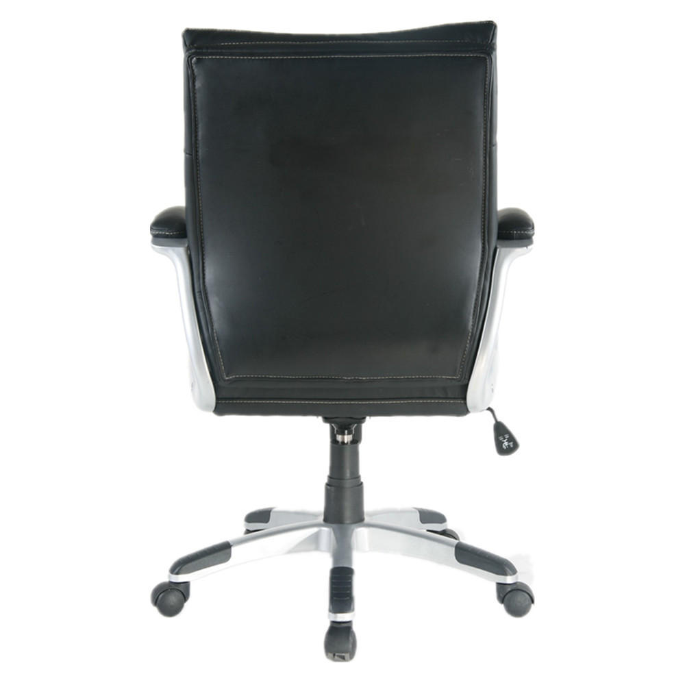 black blk in chair leather chairs office products aniline