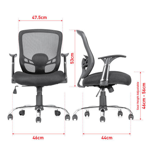 Mid Back Office Mesh Task Chair with Armrest