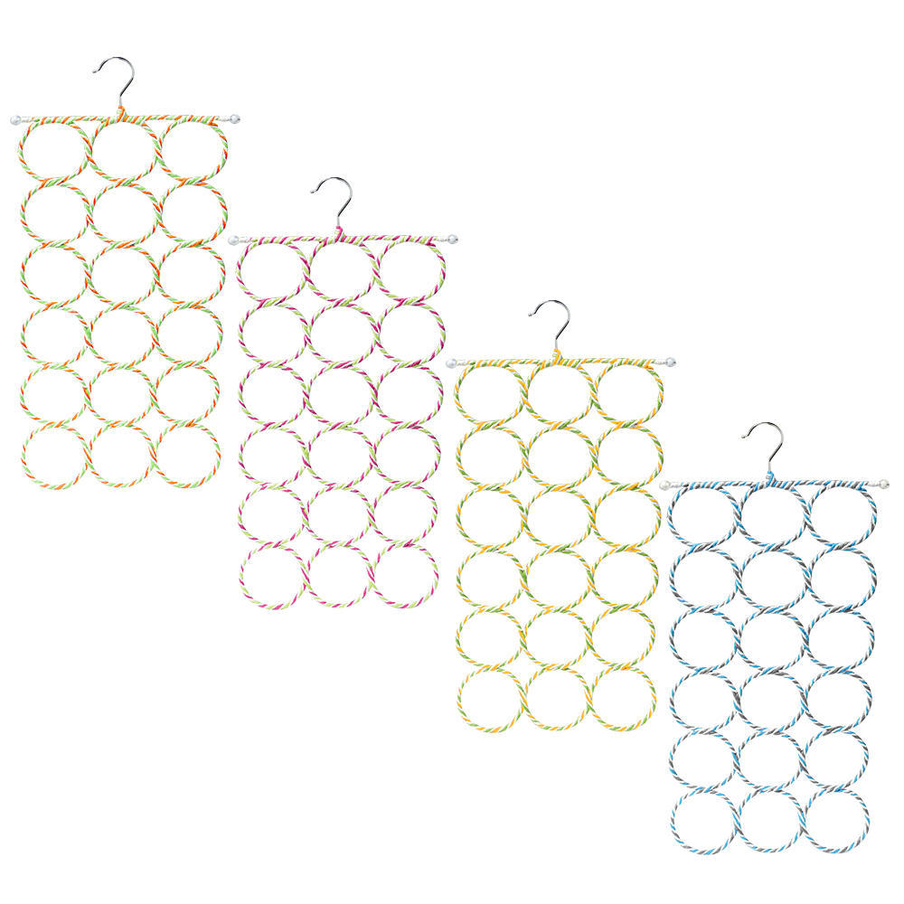 Loop Scarf Tie Hanger 18 Storage Closet Organizer 1 Randomized Tying Diagram Color Per Pack Sortwise
