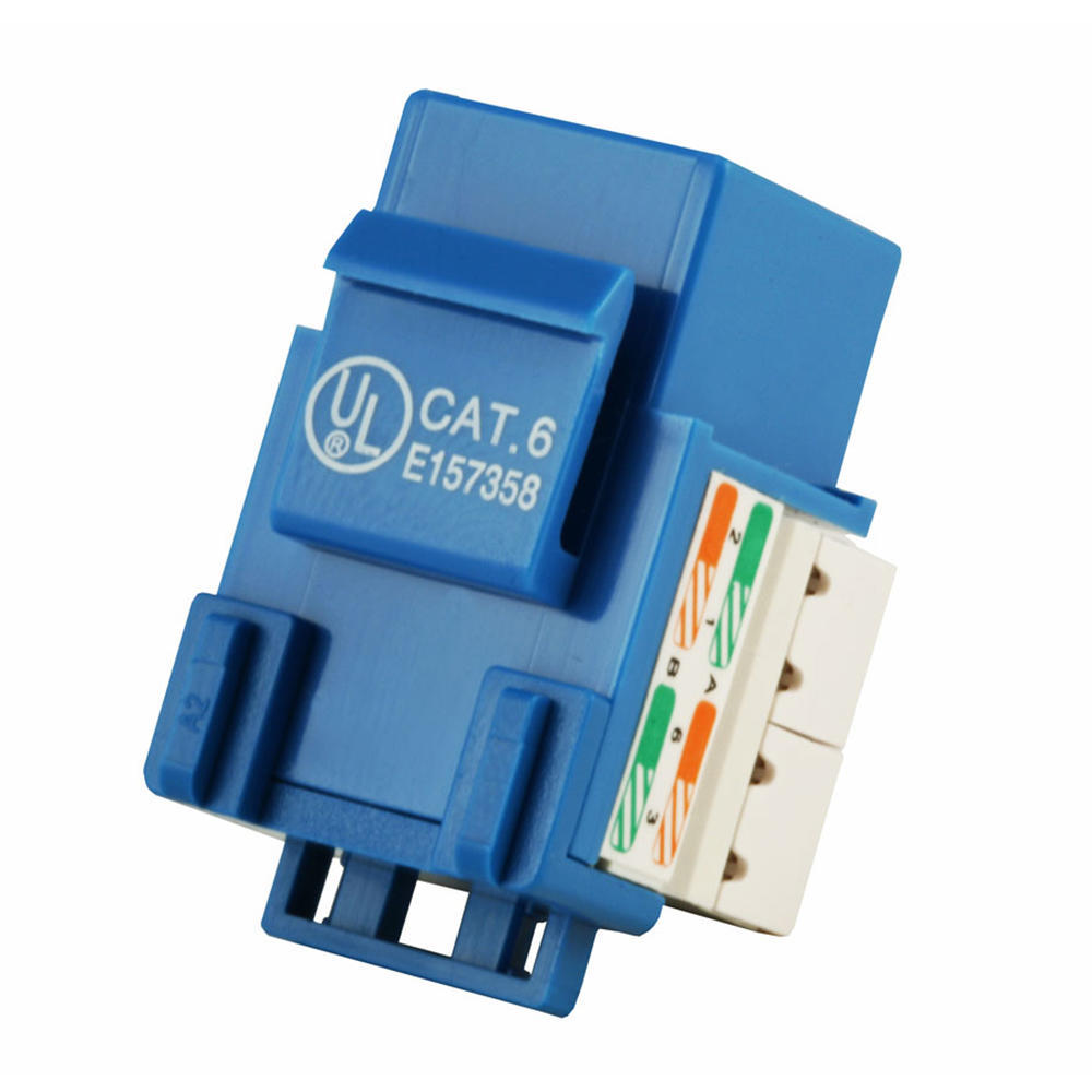 Cat6 Punch Down Keystone Jack - Blue - PrimeCables®   Living.ca Canada