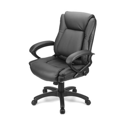 office chairs pictures. Ergonomic Faux-Leather Mid Back Office Chair With Adjustable Lumbar Support - Moustache® 123InkCartridges 123Ink.ca Canada Chairs Pictures