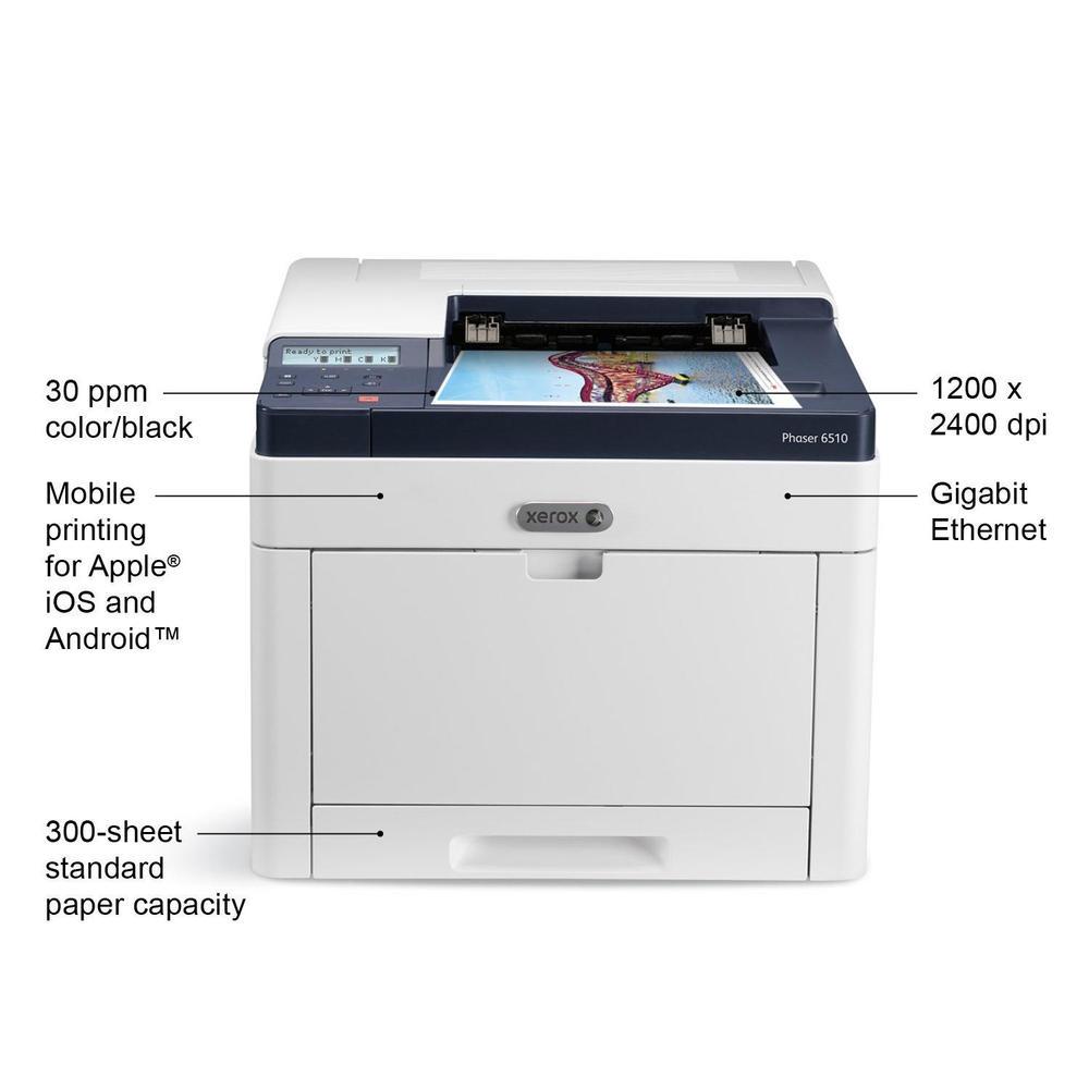 Xerox Phaser 6510 N Single Function Color Laser Printer 123InkCartridges 123Inkca Canada