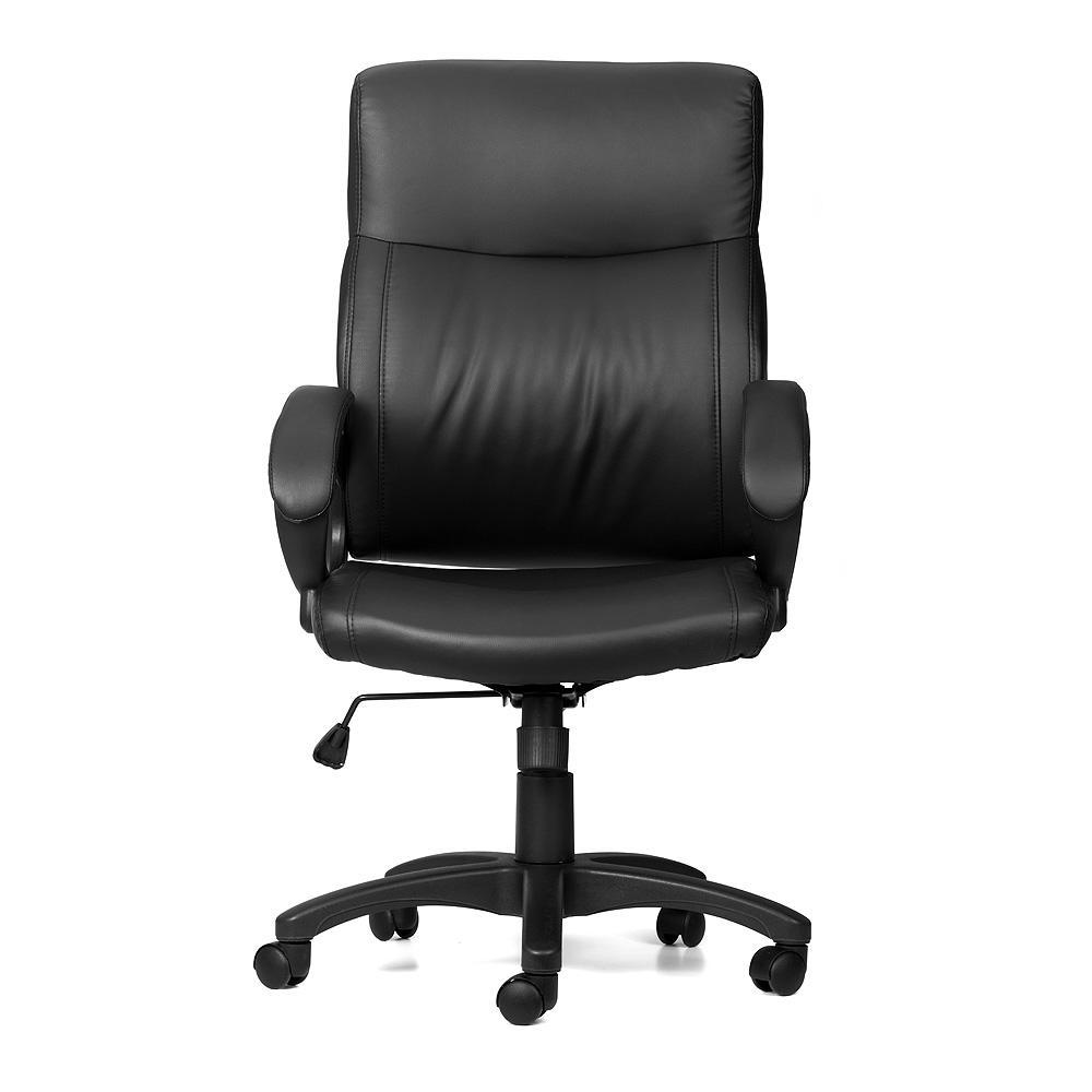 office chair picture. Office Chair With Armrest Mid Back Bonded-Leather 123InkCartridges 123Ink.ca Canada Picture