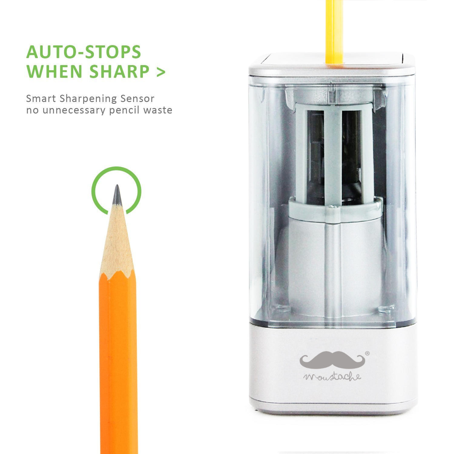 Auto-Stop Electric Pencil Sharpener