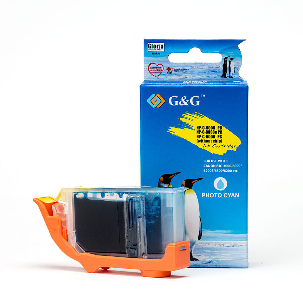 Canon BCI-6PC Compatible Photo Cyan Ink Cartridge - G&G