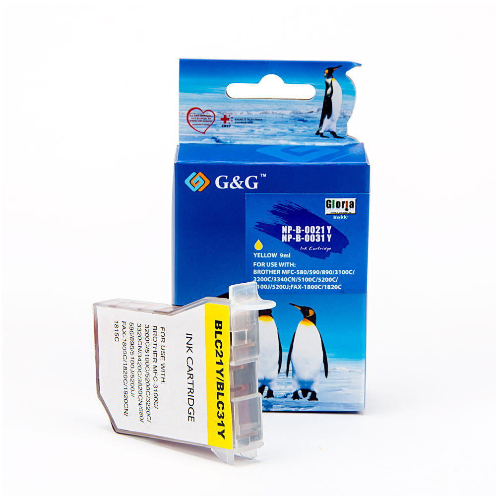 Brother LC21Y Compatible Yellow Ink Cartridge G&G