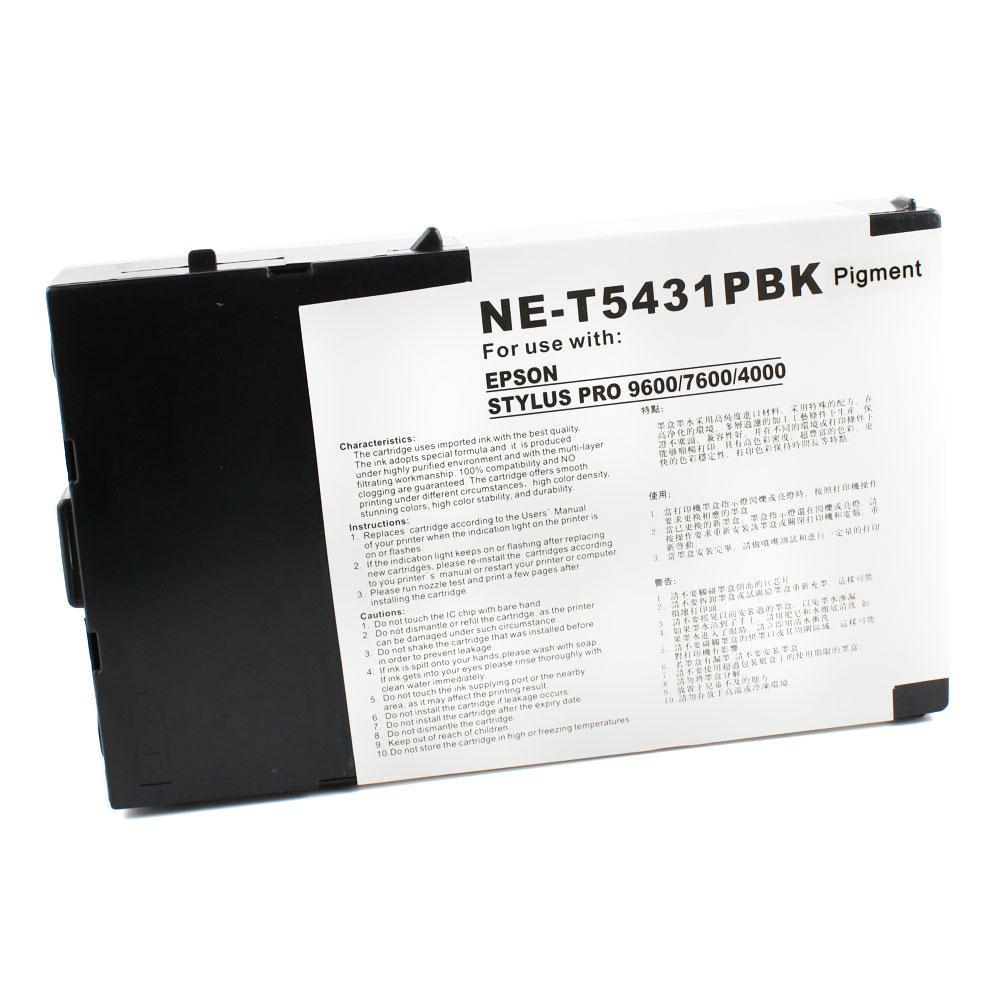 Epson T543100 Compatible Photo Black Ink Cartridge Pigment