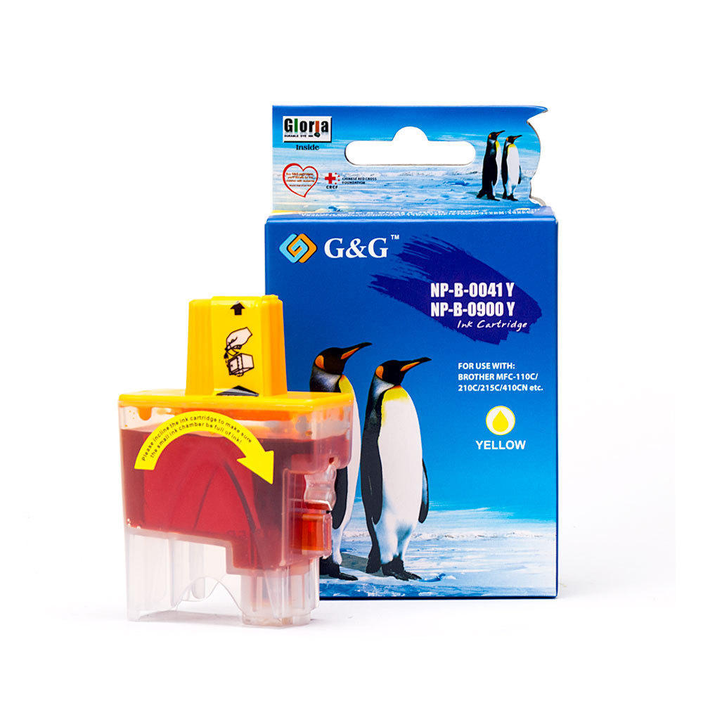Brother LC41Y Compatible Yellow Ink Cartridge – G&G