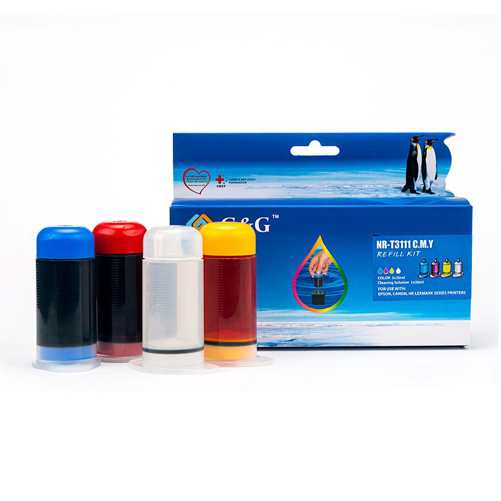 Universal Refill Kit NR-T3111CMY Color Ink C|M|Y – G&G