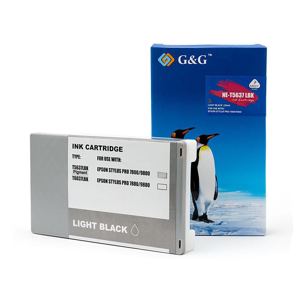 Epson T563700 T562700 Compatible Light Black Ink Cartridge Pigment - G&G™