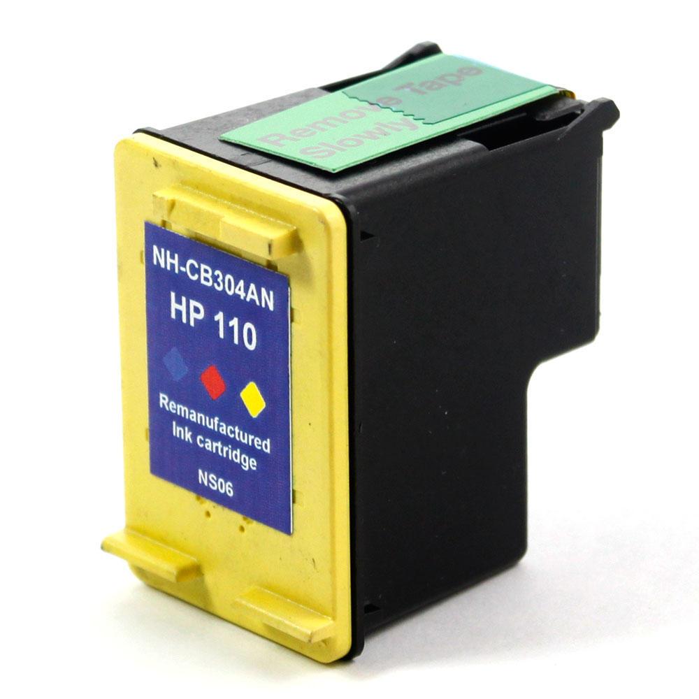 remanufactured hp 110 cb304an tri color ink cartridge at inkjetsuperstore. Black Bedroom Furniture Sets. Home Design Ideas