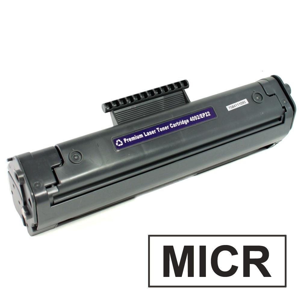 Compatible HP 92A C4092A MICR Black Toner Cartridge at ...