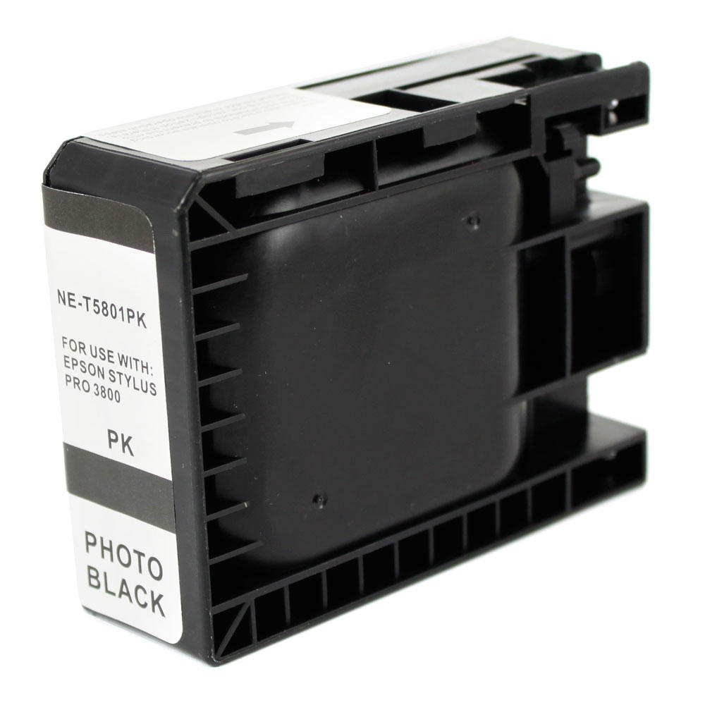 Epson T580100 New Compatible Pigment Photo Black Ink Cartridge