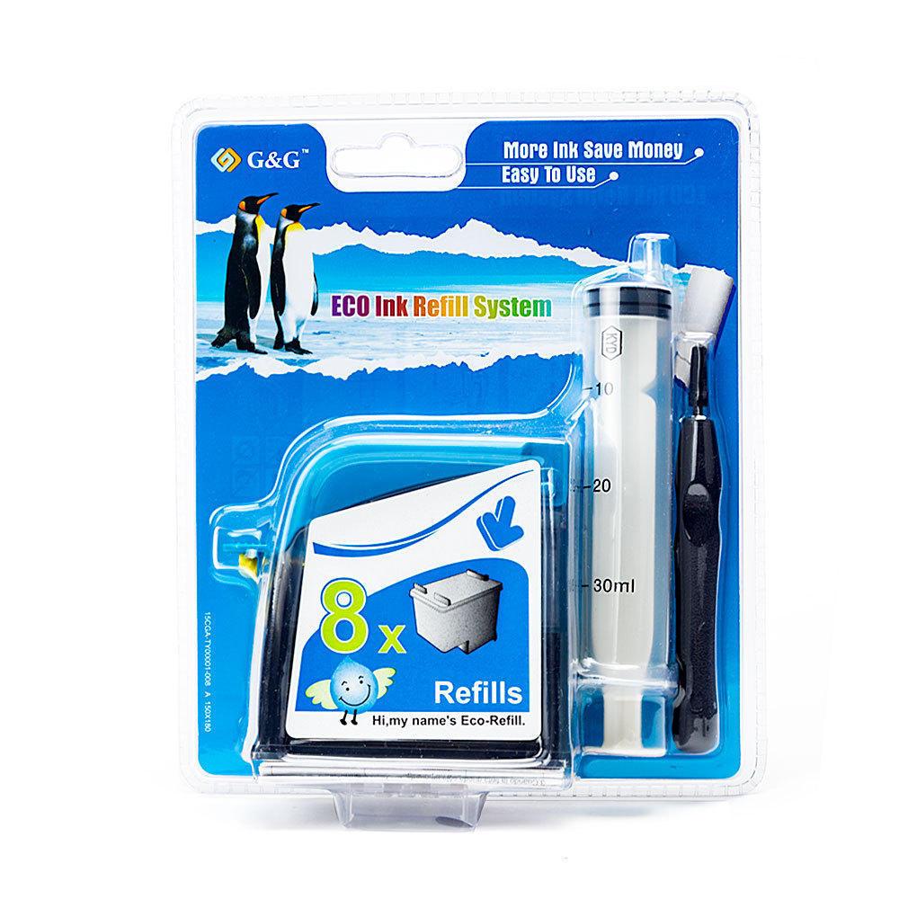 Canon PG30 PG40 PG50 Black Ink Cartridge Refill Kit - G&G™