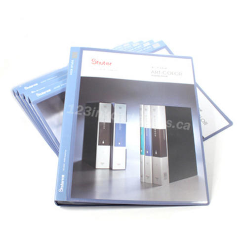 Shuter Showfile Blue Presentation Books 40 Pockets 6 Covers Per Pack