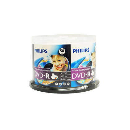 Philips DVD-R 16x 4.7GB imprimable A Jet D'encre