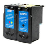 Canon PG210 CL211 Remanufactured Black and Color Ink Cartridge Combo