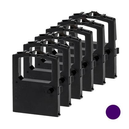 Compatible Okidata 52102001 nouvel ruban violet 6/paq pour ML182