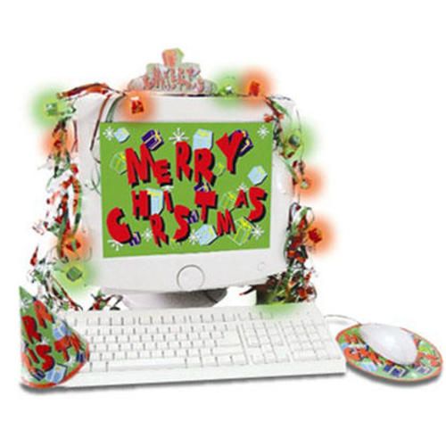 usb christmas decoration kit luminescent christmas computer decor