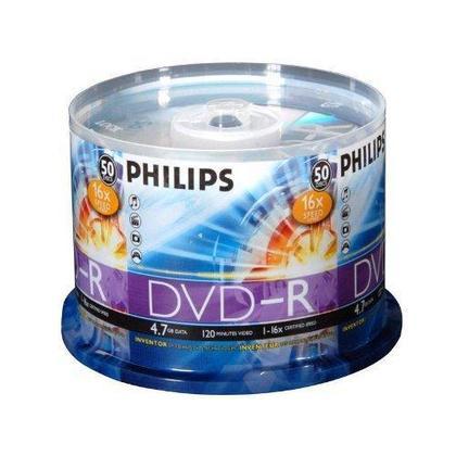 Philips 16x (Premium) DVD-R 4.7Go, 50pcs/paq. - Boite de d etail