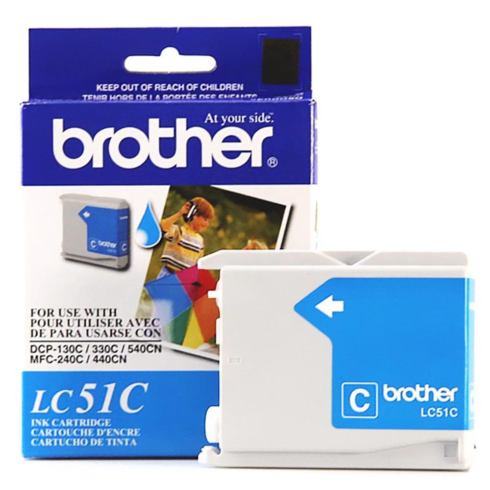 Brother LC51C Original Cyan Ink Cartridge