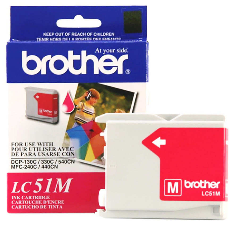 Brother LC51M Original Magenta Ink Cartridge