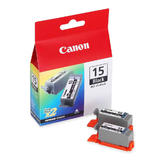 Canon BCI-15 8190A003 Original Black Ink Cartridge Twin Pack