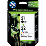 HP 21/22 Original Black / Tri-Colour Ink Cartridge Combo Pack (C9509FC / C9509BN)